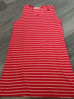 Cute Red Striped Dress