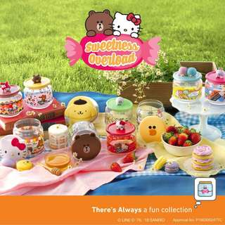 7 eleven- sweetness overload glass container collection