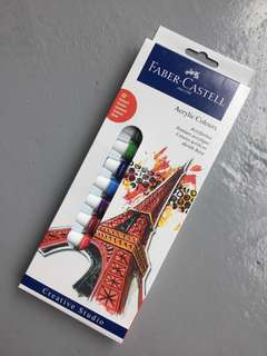 Faber Castell Acrylic Colors - 12ct