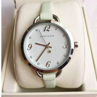 Authentic Silver and Mint Anne Klein Watch