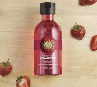 Body Shop Strawberry Shower Gel