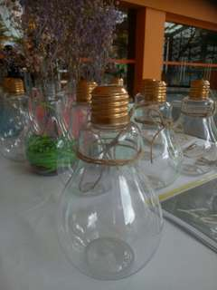 Plastic light bulb bottle
