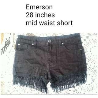 fringe black short