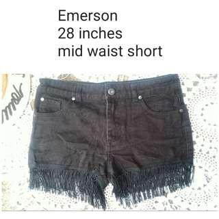 fringe black short