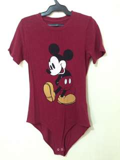 Forever 21 Limited Edition Mickey Mouse Bodysuit