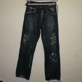 Levi's 515 油漆造型牛仔褲 (二手) W29 L32
