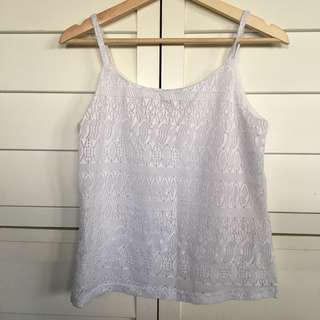 Women's pretty white detail top