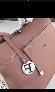 Furla pink 牛皮bag