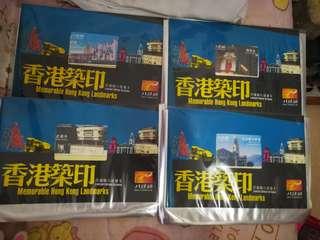 香港築印八達通,限量3000,一套四款,尖沙咀火車站 老襯亭 荔園 利舞臺