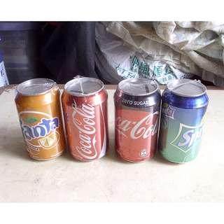 一套四個可口可樂錢箱罐四個