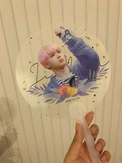BTS JIMIN TRANSPARENT FAN (fansite goods)