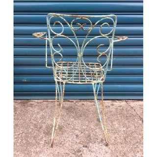 【swallow燕子二手懷舊傢俱】鐵椅 休閒椅 庭院椅 戶外椅 [1805333]