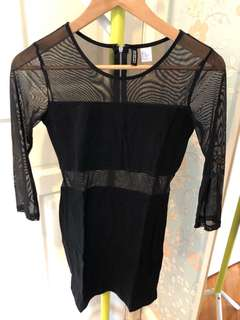 H&M mesh bodycon dress