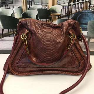 Chloe Paraty Python large Shoulder Bag