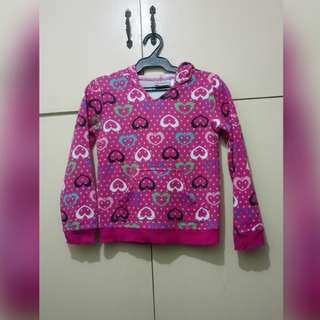 GA84 Jumping Beans Hearts Hoodie Sweater for Girls (see pics for Measurements)