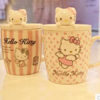Hello kitty cup with cover ( instock )