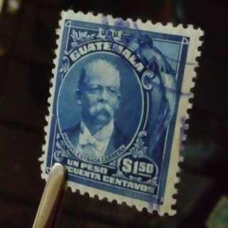 [lapyip1230 立體感人像雕刻] 危地馬拉 1905年 總統 舊票全套 VFU