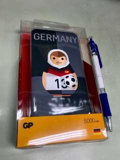 (100%新) GP 5000 mAh PowerBank 2018 Germany 德國隊 充電器 Charger