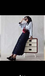 Button skirt (long) outfitm