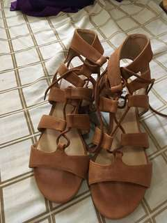 Brown sandals 6.5 size