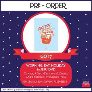 (PRE-ORDER) GOT7 WORKING, EAT, HOLIDAY IN JEJU DVD