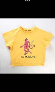 El Diablito Yellow Crop Top