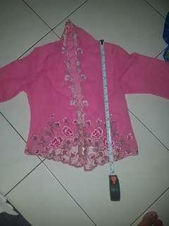 Girls kebaya top pink