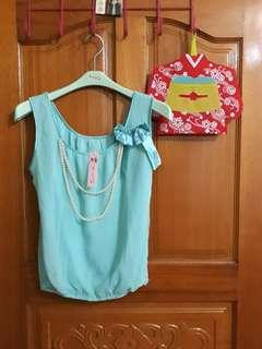 🚚 全新 氣質 時尚 女生 上衣 喜宴 珍珠項鍊 蝴蝶結 服裝