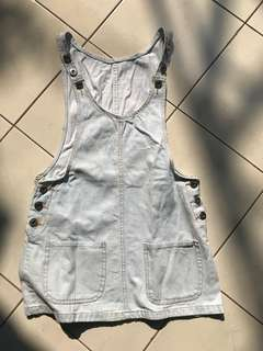 Light denim overall
