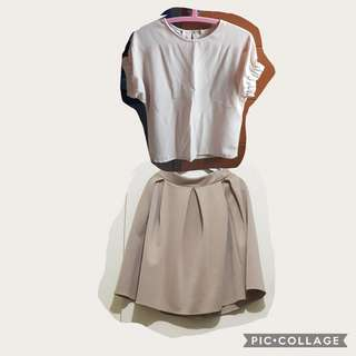 Bayo top style & midi skirt pair only for 380