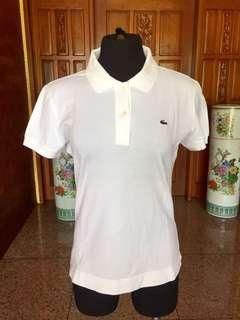 Lacoste white Polo Shirt