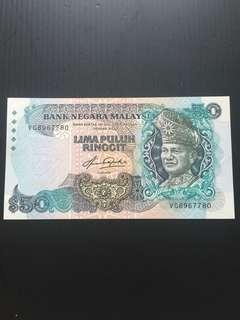 Malaysia 5th Series RM50 , UNC