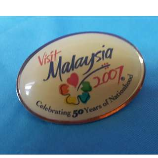 Visit Malaysia 2007 pin/pendant