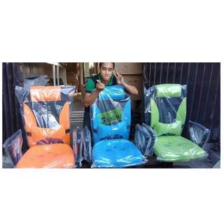 HB-9002H MIDBACK CHAIRS - ORANGE  BLUE & GREEN