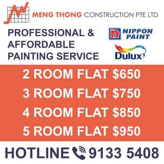 Professional and affordable painting services for HDB BTO