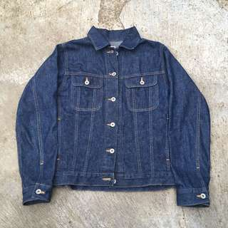 Denim jacket trucker