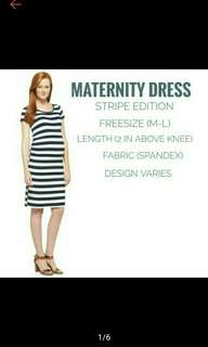 Maternity Casual Dress Stripes BEST SELLING