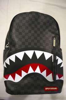 SPRAYGROUND SHARKS IN PARIS BLACK BACKPACK (leather)