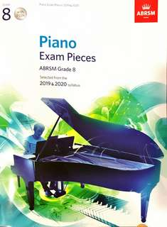 Grade 8 Piano exam pieces by ABRSM