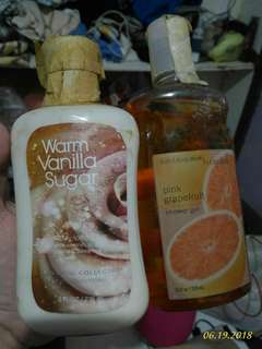 BBW Body wash and lotion