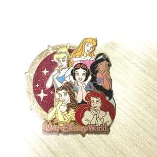 迪士尼 公主 Disney Princess 襟章 Pin
