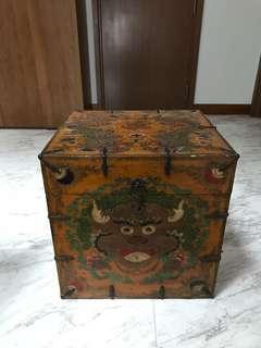 Oriental wooden chest