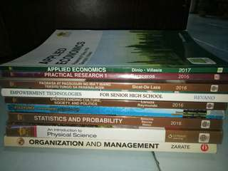SENIOR HIGHSCHOOL (SHS) TEXTBOOKS