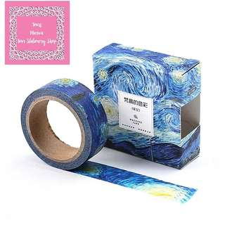 7m Vincent Van Gogh Creative Painting The Starry Night Washi Tape