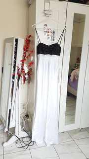 MISS SHOP twist back silk formal dress