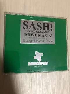 Sash! Feat. Shannon - Move Mania cd single 3 tracks UK