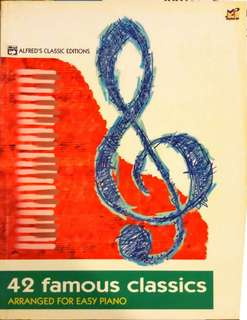 42 Famous classics Piano, by Alfreds classic editions