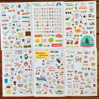 Transparent Sticker Set of 6