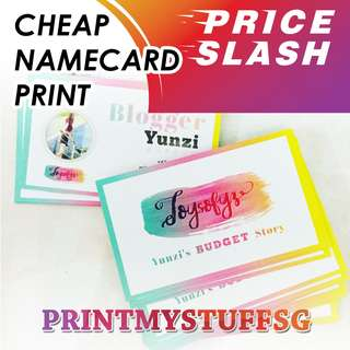 NameCard Business Post Card Print