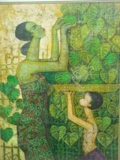 Chuah Thean Teng - Batik Painting (PENANG -Pearl of The Orient)